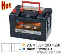 Sell N60MF 12v 60ah auto starting battery