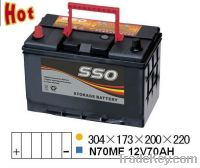 Sell N70MF 12v 70ah automotive starting battery