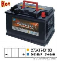 Sell 56638MF 12v 66ah sealed battery for automobile