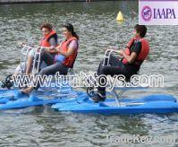 aqua peddlar boat water bike bicycle