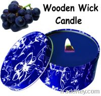 8 Ounce Brown Home Parrafin wax Wooden wick Candle PT8050