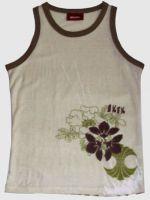 Sell Lady's Vest with Prints(cotton & hemp blends)