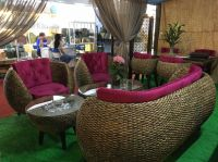 Water hyacinth sofa set - indoor furniture