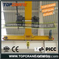 Sell European type single girder overhead crane with wire rope hoist