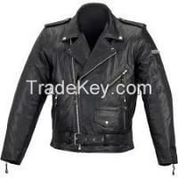 Leather jacket, gloves and upper linning and finish leather