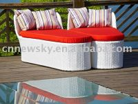 Sell Outdoor wicker sun bed