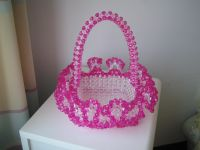 Acrylic hand knitted gifts artificial bead