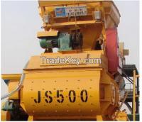 Hot sale JS500 concrete mixer specifications