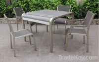 Sell Aluminum square dining table set for outdoor use