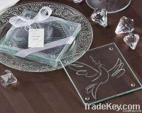 Sell Dove Printing Wedding Glass Coaster Set