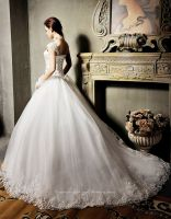 Sell Quality Made Designer Capsleeve Lace Wedding Dress