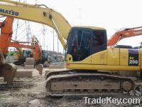 Sell used excavator komatsu pc200