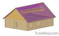 "Glued laminated beam house ""Bjorn"""