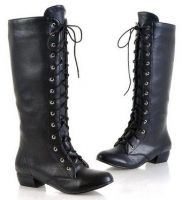 Sell Women Long Lace-up Flat Boots