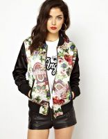 Sell Women Long Sleeves Flowers Stand Collar Jackets