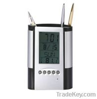 Sell LCD module calendar pen container electronic calendar with temper