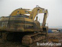 Sell used CAT-325B excavator, crawler excavator, yellow excavator