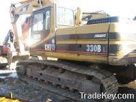 Sell used CAT-330BL excavator, crawler excavator, yellow excavator