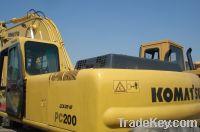 Sell used Komatsu PC200-6 crawler excavator, used excavators