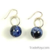 Sell wholesale 925 sterling silver handmade earrings with gemstone