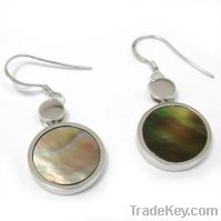 Sell wholesale 925 sterling silver mop earrings