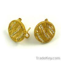 Sell wholesale 925 sterling silver filigree earrings omega back