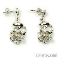 Sell wholesale 925 sterling silver flower earrings studs