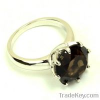 Sell wholesale 925 sterling silver smoky quartz rings bridal rings
