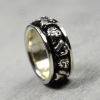 wholesale 925 sterling silver lion rings band