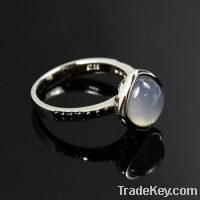 Sell wholesale 925 sterling silver moonstone bridal rings