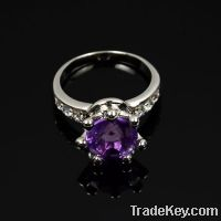 Sell wholesale 925 sterling silver purple amethyst rings