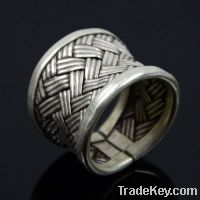wholesale 925 sterling silver weaved rings