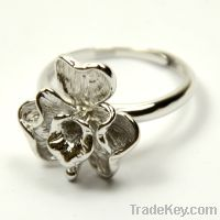 wholesale 925 sterling silver flower ring