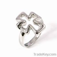 wholesale 925 sterling silver cross ring