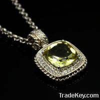 wholesale 925 sterling silver citrine pendant