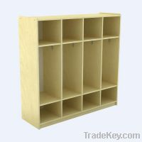 Eco-Friendly Kindergarten Wardrobe Cabinet, Daycare  Children Cabinet