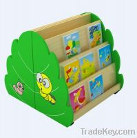 Latest Morden Cartoon Design Kids Wooden bookshelf