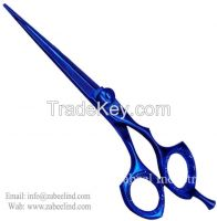 Professional Barber Scissors TITANIUM BLUE Color SSJ2 By Zabeel Industries