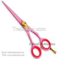 Professional Saloon Shears Razor Sharp Edge Pink Scissors By Zabeel Industries