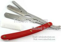Professional Barber Straight Cut Throat Shaving Razors / Replaceable Blade Straight Razor By Zabeel Industries