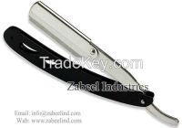 Professional Barber Straight Cut Throat Silver & Black Shaving Razors / Replaceable Blade Straight Razor By Zabeel Industries