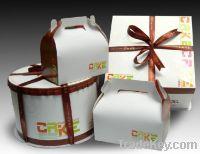 Christmas foladable paper cake box
