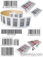 Custom barcode / bar code /date code stickers