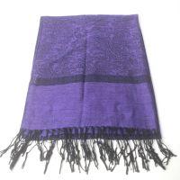 classic paisley design viscose jacquard shawl pashmina