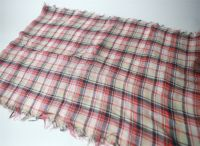 Japanese checked 100% cotton scarf