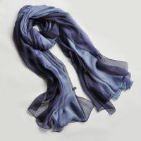 navy ombre silk scarf