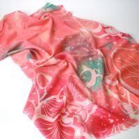 extrafine wool scarf shawl digital printed
