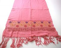 embroidered viscose scarf
