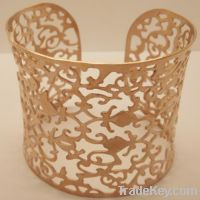 Sell Fashion Jewelry Stainless Steel Bangle with Rose Golden Plating
