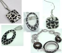 Sell Fashion Stainless Steel Jewelry Set with Epoxy Resin (JC1229)